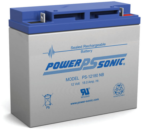 Power-sonic PS-12180 NB Battery - 12 Volt 18.0 Amp Hour