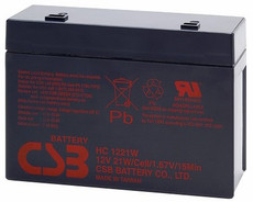 CSB HC1221W Battery - 12 Volt 5.1AH SLA Sealed Lead Rechargeable