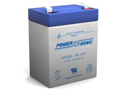 Power-sonic PS-1227 Battery - 12 Volt 2.7 Amp Hour Sealed Lead Acid
