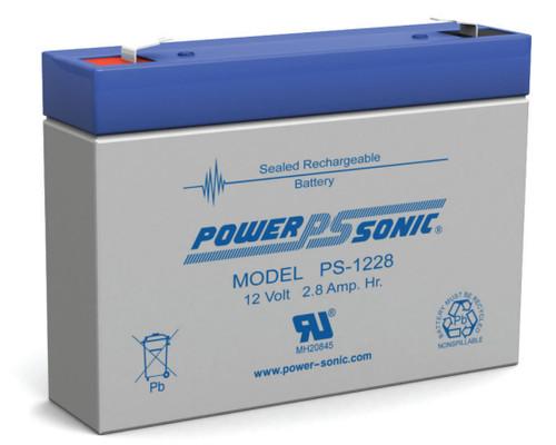 Power-sonic PS-1228 Battery - 12 Volt 2.8 Amp Hour