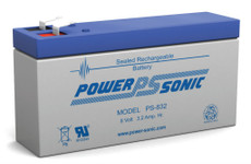 Power-sonic PS-832 Battery - 8 Volt 3.2 Amp Hour Sealed Lead Acid