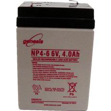 Genesis NP4-6 Battery - 6V 4.0 Ah Enersys, Yuasa