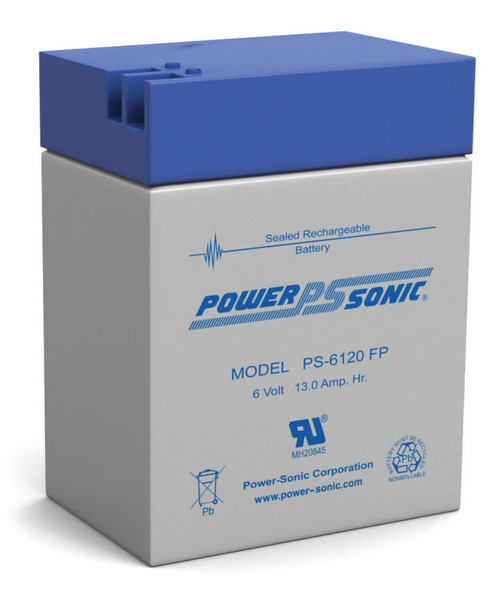 Power-sonic PS-6120 FP Battery - 6 Volt 13.0 Amp Hour