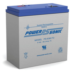 Power-sonic PS-6360 F2 Battery - 6 Volt 36.0 Amp Hour