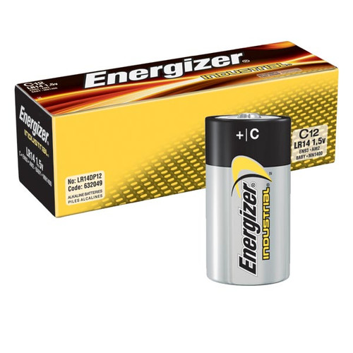 Energizer En93 C Cell Industrial Battery 12 Pack