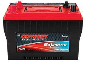 Odyssey 34M-PC1500ST-M Battery - Deep Cycle - Marine - Trolling Motor