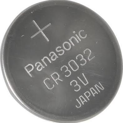 Panasonic CR3032 Battery - 3 Volt 500mAh Lithium Coin Cell