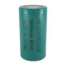 FDK HR-SCU Sub C Cell NiMH Battery - 1.2 Volt 3000mAh Flat Top