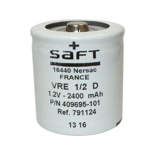 VRE 1/2 D - 409695-101 Saft Battery - 1.2V 2400mAh 1/2 D NiCd