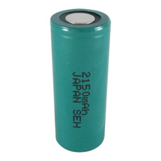 FDK HR-4/5AU 4/5 A Cell NiMH Battery - 1.2 Volt 2150mAh Flat Top