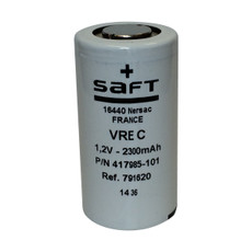 VRE C - 417985-101 Saft Battery - 1.2V 2300mAh C NiCd Flat Top