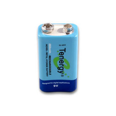 Tenergy 10001  - 9 Volt 250mAh Ni-MH Rechargeable Battery