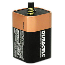 MN908 6V Duracell Coppertop Battery - 6 Volt Lantern Spring Terminals