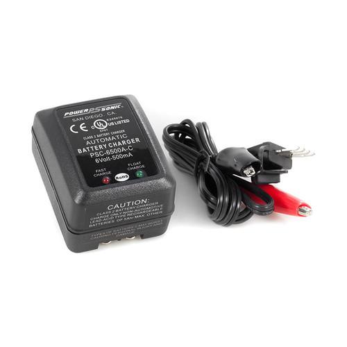 PSC-6500A-C Power-sonic Battery Charger - 6 Volt 500mA SLA