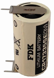 FDK CR17335SE-FT1 3V Lithium Battery - 3 Volt 1800mAh 3 PC Pins