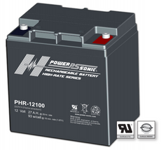 Power-Sonic PHR-12100 Sealed Rechargeable Battery - 12V 30Ah
