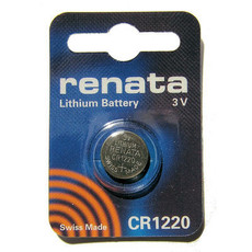 Renata CR1220 Battery - 3 Volt 36mAh Lithium Coin Cell