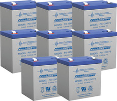 APC RBC43  Replacement Batteries ( 8 ) 12v 5ah F2 Batteries