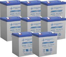 APC RBC43  Replacement Batteries ( 8 ) 12v 5ah F2 Batteries
