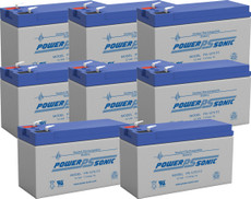 APC 5000RMT5U Replacement Batteries ( 8 ) 12v 7Ah F2 Batteries