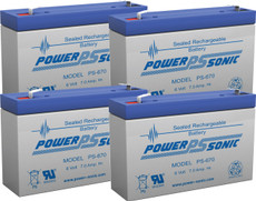 APC RBC34 Replacement Batteries - 6v 7ah (4 Pieces)