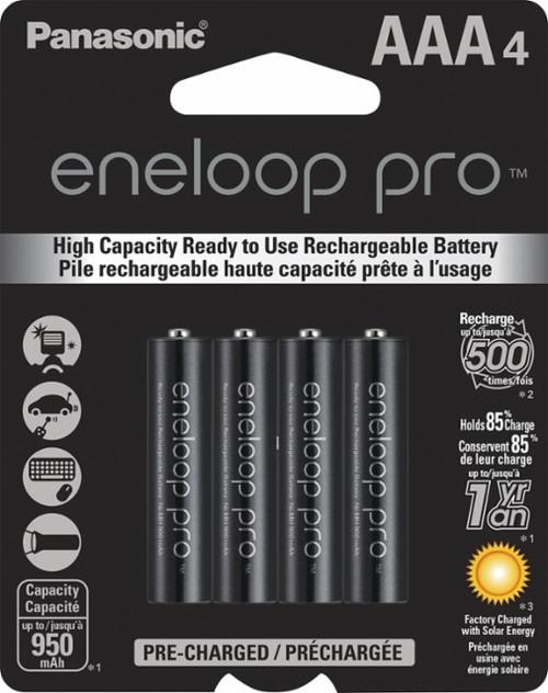Panasonic eneloop pro AAA Rechargeable Batteries - 4 Pack