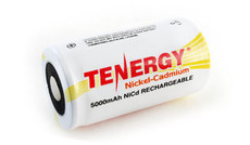Tenergy 20501 - 1.2 Volt 5000mAh D Cell Ni-Cd Battery
