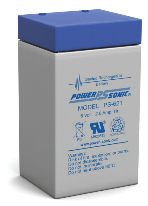 Power-Sonic PS-621 Battery - 6 Volt 2.0 Amp Hour