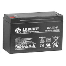 "B.B. Battery BP12-6 (.187"") - 6V 12Ah AGM - VRLA Rechargeable Battery"