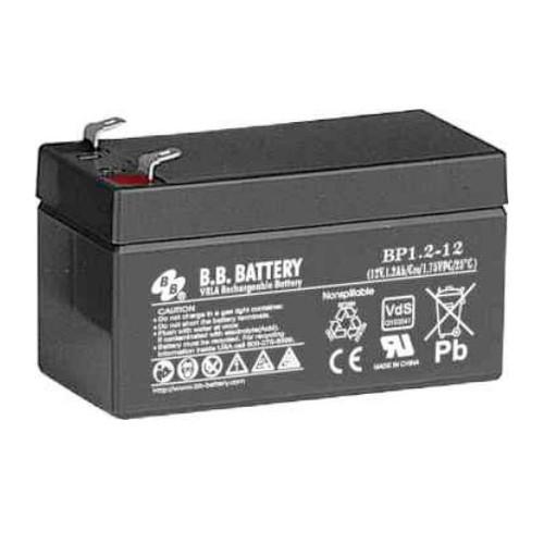 B.B. Battery BP1.2-12 - 12V 1.2Ah AGM - VRLA Rechargeable Battery