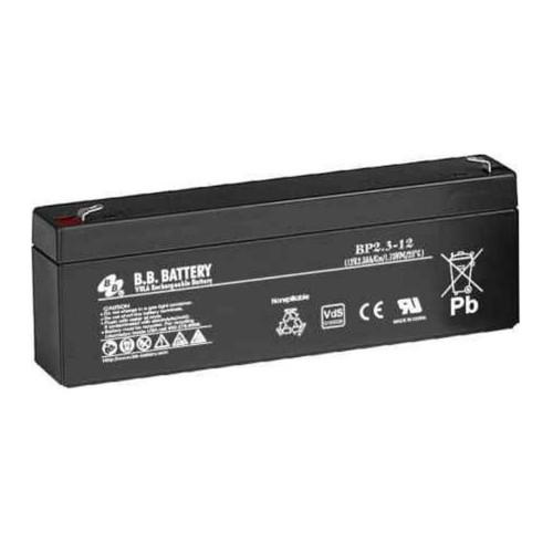 B.B. Battery BP2.3-12 - 12V 2.3Ah AGM - VRLA Rechargeable Battery