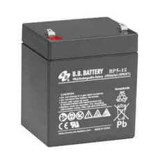 "B.B. Battery BP5-12 (.187"") - 12V 5Ah AGM - VRLA Rechargeable Battery"
