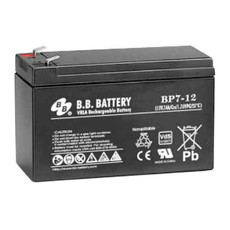 "B.B. Battery BP7-12 (.187"") - 12V 7Ah AGM - VRLA Rechargeable Battery"