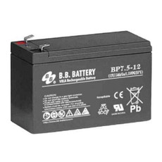 "B.B. Battery BP7.5-12 (.250"") - 12V 7.5Ah AGM - VRLA Rechargeable Battery"