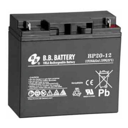 B.B. Battery BP20-12 (Nut & Bolt) - 12V 20Ah AGM - VRLA Rechargeable Battery
