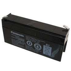 LC-R063R4P Panasonic Battery - 6V 3.4Ah AGM - Sealed Rechargeable