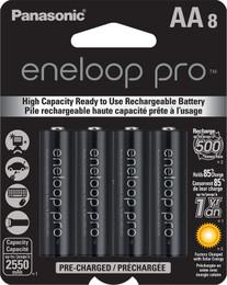 Panasonic eneloop pro AA Rechargeable Batteries - 8 Pack