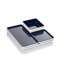 Pantone Food Tray 4 pcs set Anthracite