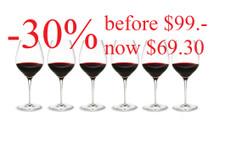 Holmegaard Cabernet Red Wine Glass 35 cl (6 Pcs.)