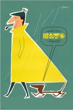 Kawo rain clothes A3 Poster