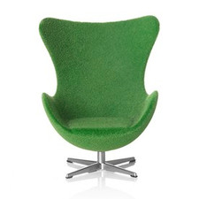AJ Egg chair, green 1:16 minimii