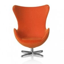 AJ Egg chair, orange 1:16 minimii