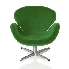 AJ Swan chair, green 1:16 minimii