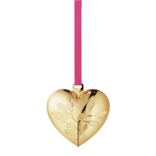Georg Jensen's 2015 Annual Christmas Heart, gold plated