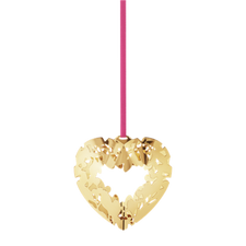 Georg Jensen's 2015 Holiday Ornament Heart, gold plated