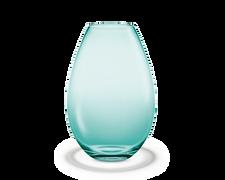 Holmegaard Cocoon Vase, aquamarine, H 45 cm