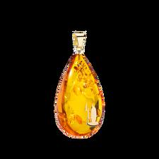 House of Amber - PENDANT DROP M/14KT HCA