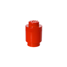 LEGO Storage Brick 1 Round RED
