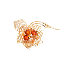 House of Amber - BROCHE PLATED
