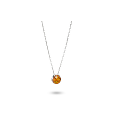 House of Amber - Louise Sigvardt PENDANT SILVER W/AMBER 14MM
